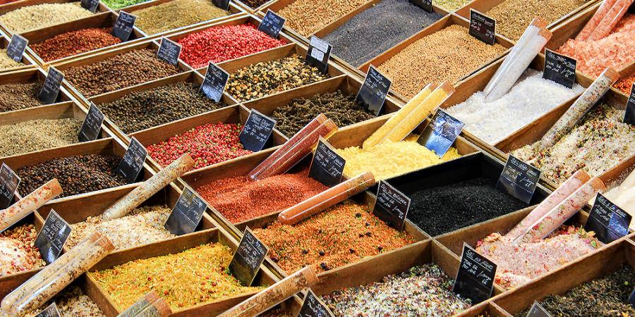Market in Antibes - Spices and Herbs