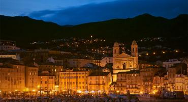 Bastia, Corsica, St Jean Baptiste Cathedral and Port