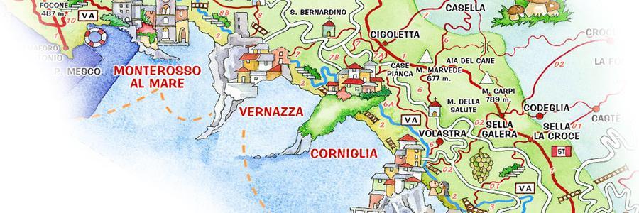 About Cinque Terre · Liguria Italian Riviera Travel Guide: Monterosso Italy Map At Slyspyder.com