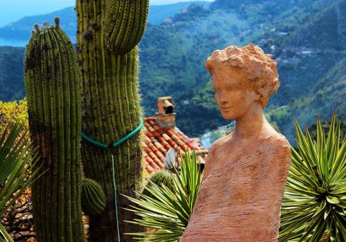 Èze Village and the Nymph of Exotic Garden