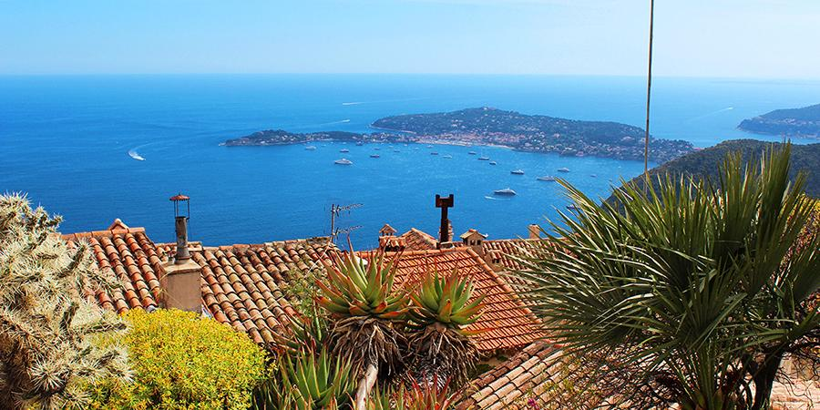Èze Village and the Nymphs of Exotic Garden
