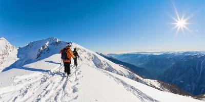 Isola 2000, skiers