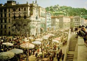 Cours Saleya in the 19th century