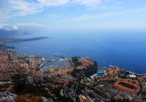 Monaco and the coastline of the French Riviera