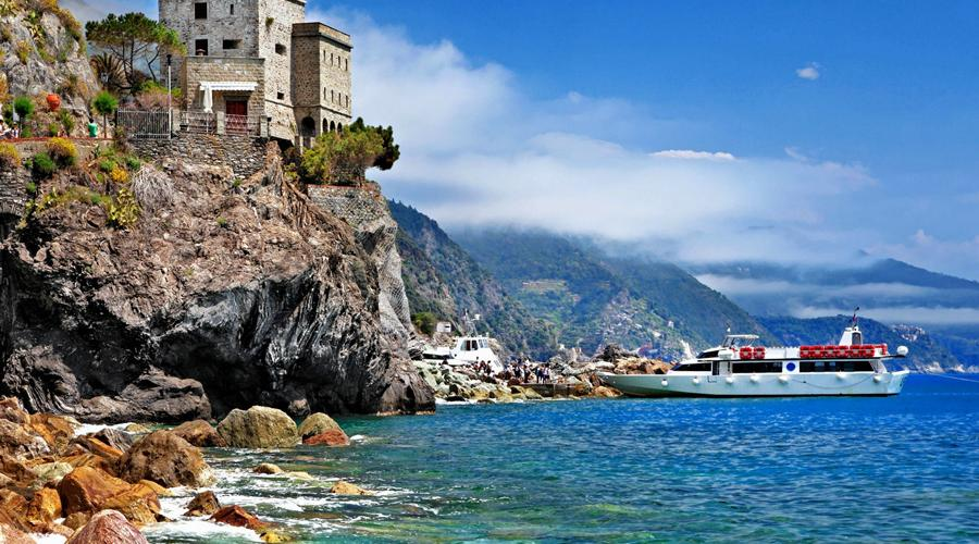 Monterosso al Mare, Cinque Terre, castle on the rocks