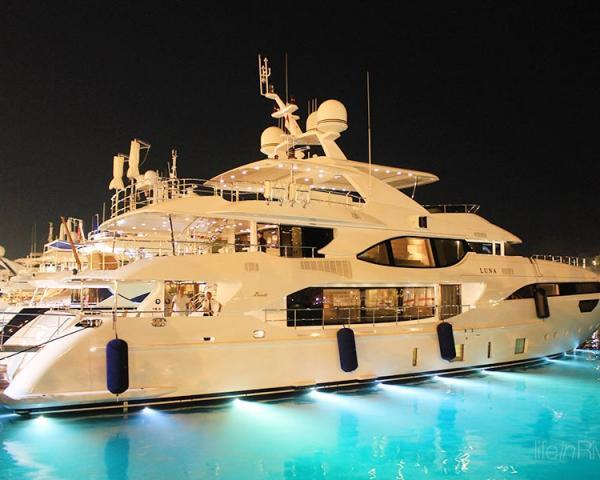 Motor Yacht LUNA at the Port Hercule of Monaco