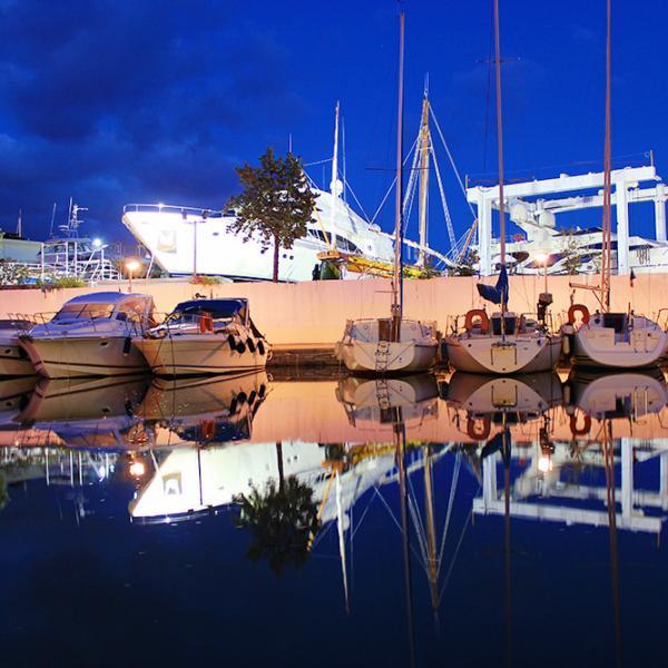 Port of Beaulieu sur Mer at night