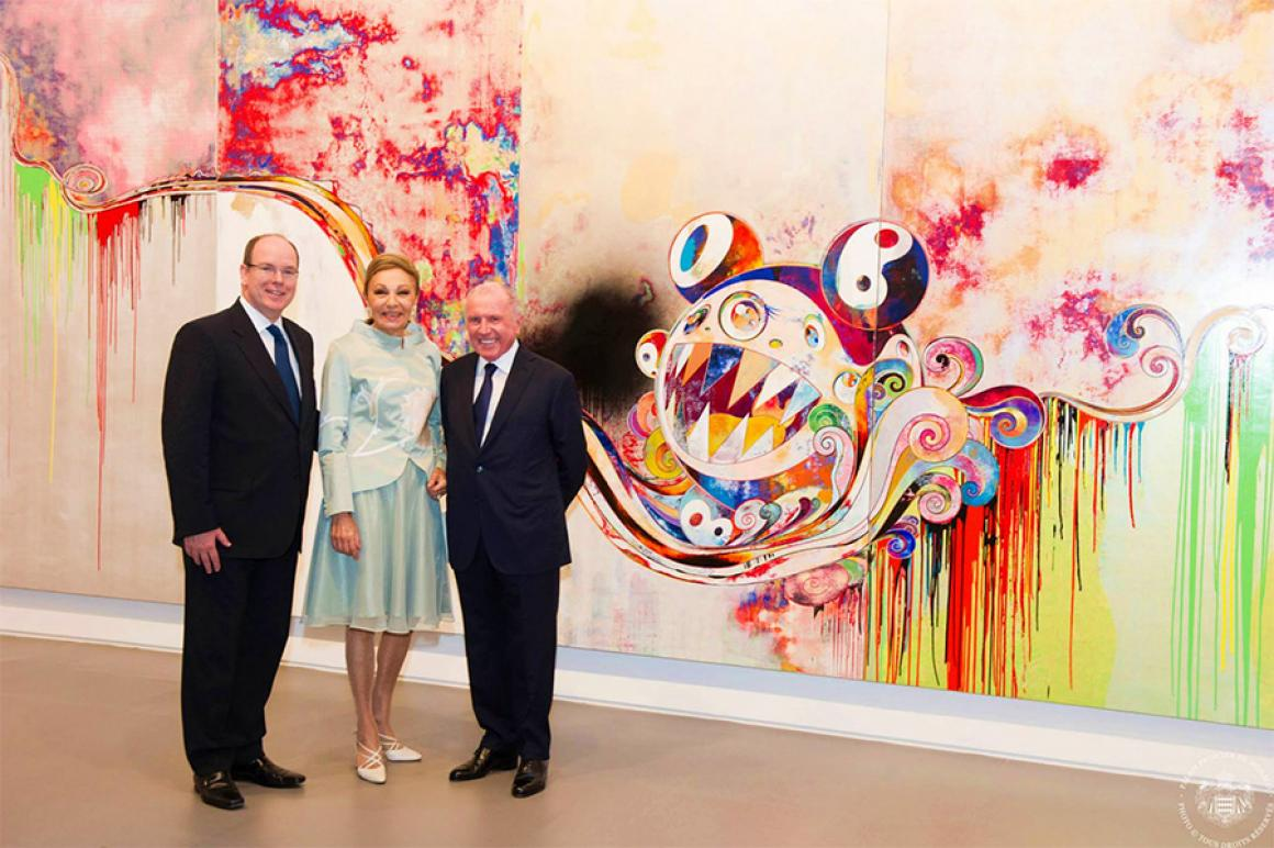Prince Albert II inaugurated 'Art Lovers' exhibition