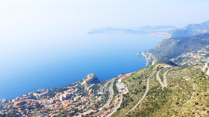 Riviera coastline, Cap d'Ail, Cap Ferrat