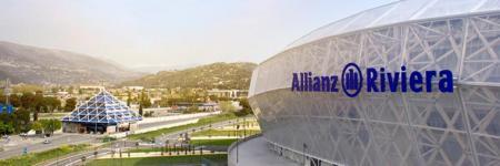 Stade de Nice Allianz Riviera, France, night