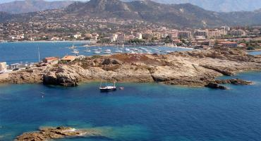 View from the tower, Torra di a Petra, Ile Rousse, Corsica